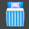 ベッド(水色ポップ)