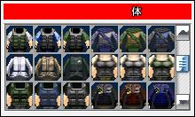 体選択画面イメージ