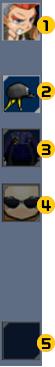 キャラクターパーツ選択画面