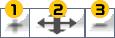 拡大/縮小、移動ボタン